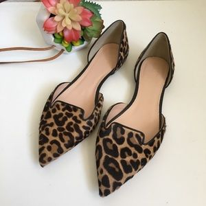 J. Crew Collection leopard print pointed flats